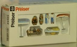Preiser 10052 Market stalls - reduced